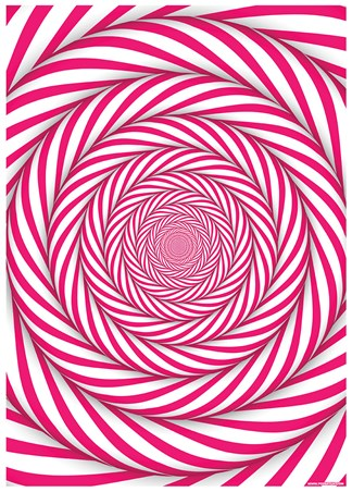 Candy Cane Mindbender - Optical Illusion