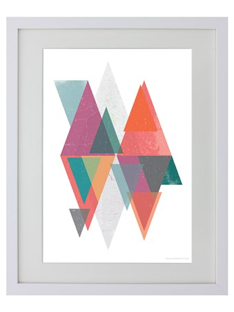 Framed Geometric Overlay - Triangular Reflection
