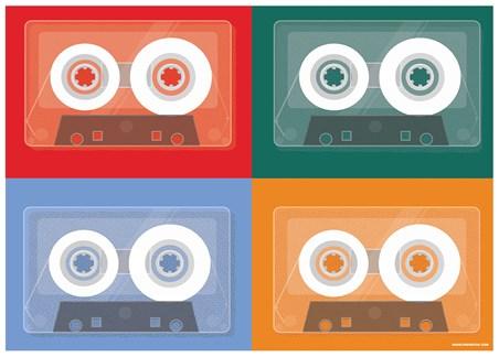 Colourful Tapes - Cassette Quad