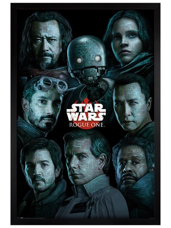 Black Wooden Framed The Rebel Alliance Versus The Empire - Star Wars Rogue One