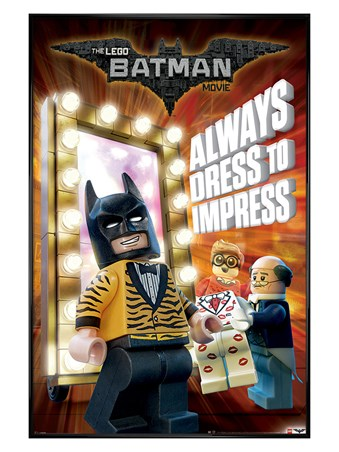 Gloss Black Framed Always Dress To Impress - Lego Batman