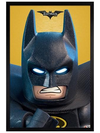 Black Wooden Framed Close Up - Lego Batman