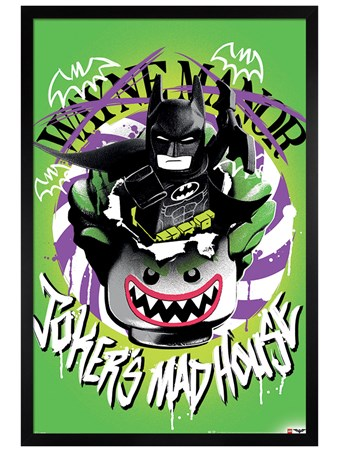 Black Wooden Framed Joker's Madhouse - Lego Batman