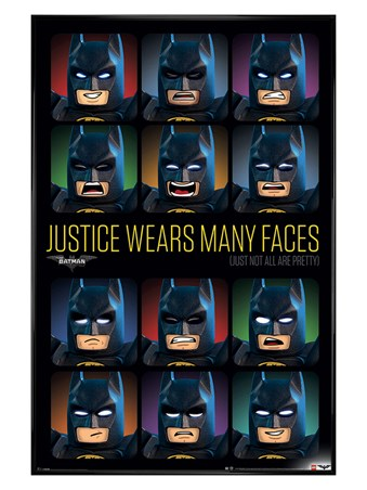 Gloss Black Framed Justice Wears Many Faces - Lego Batman