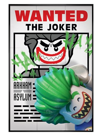 Gloss Black Framed Wanted The Joker - Lego Batman