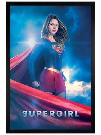 Black Wooden Framed Kara Zor-El - Supergirl