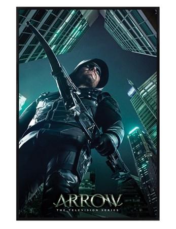 Gloss Wooden Framed Arrow Legacy Dc Comics Framed Poster