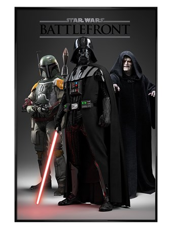 Gloss Black Framed The Dark Side - Star Wars Battlefront