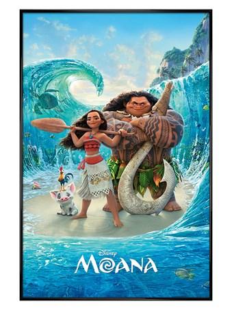 Framed Gloss Black Framed Magical Sea - Disney's Moana