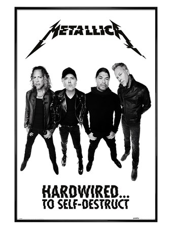 Gloss Black Framed Hardwired To Self-Destruct - Metallica