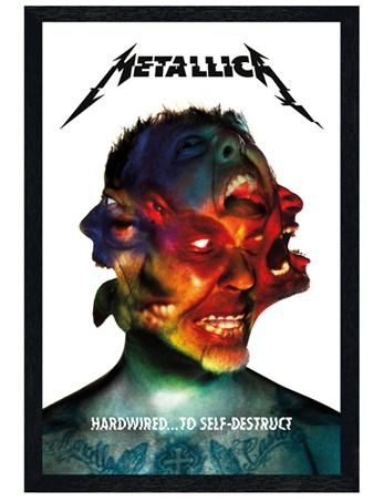 Black Wooden Framed Hardwired Album - Metallica