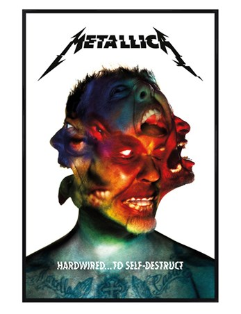 Gloss Black Framed Hardwired Album - Metallica