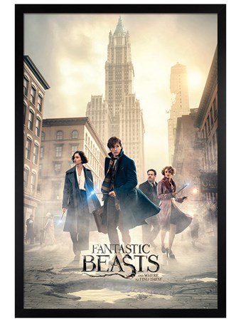 Black Wooden Framed New York Streets - Fantastic Beasts