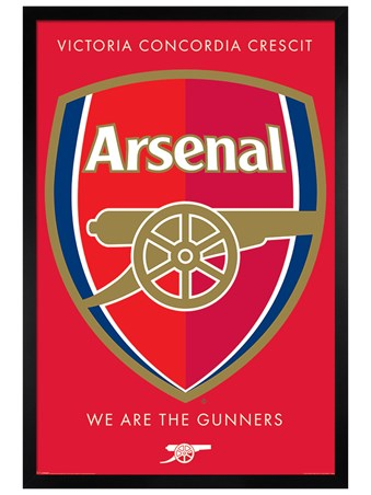 Framed Black Wooden Framed Arsenal Crest - Arsenal FC