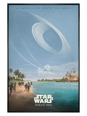 Gloss Black Framed A Rebellion Built On Hope - Star Wars Rogue One
