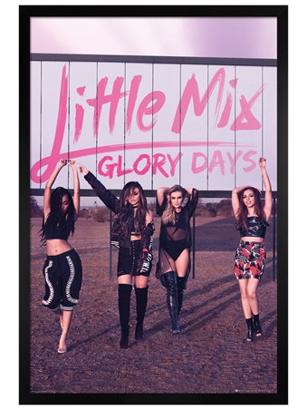 Black Wooden Framed Glory Days - Little Mix