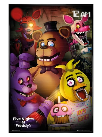 Gloss Black Framed Freddy's Fright Night - Five Nights At Freddy's