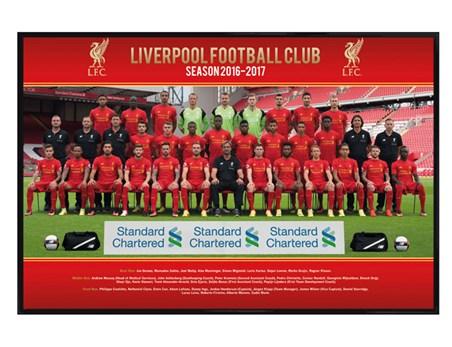 Gloss Black Framed Team Photo 16/17 - Liverpool FC