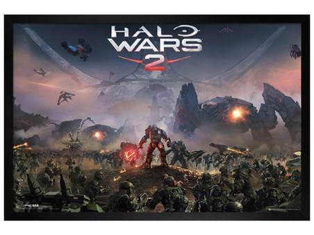 Black Wooden Framed The Battle Rages On - Halo Wars 2