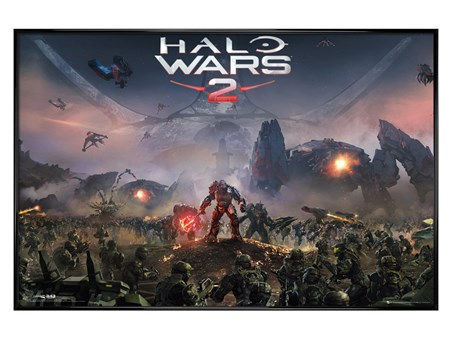 Gloss Black Framed The Battle Rages On - Halo Wars 2