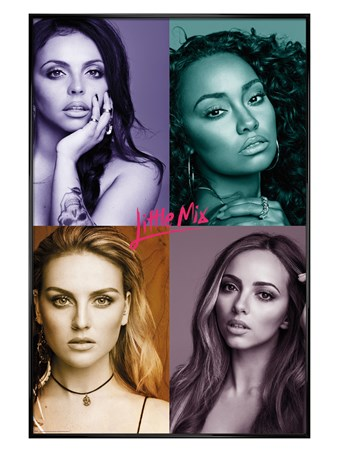 Gloss Black Framed Quad Pictures - Little Mix