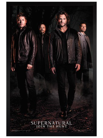 Black Wooden Framed Season 12 - Supernatural