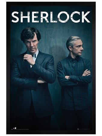 Black Wooden Framed Iconic - Sherlock