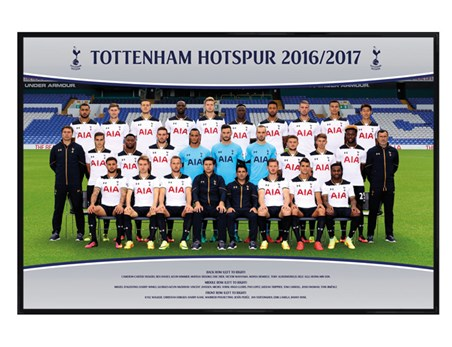 Gloss Black Framed Team Photo 16/17 - Tottenham Hotspur