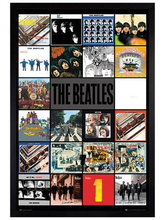 Black Wooden Framed Albums - The Beatles