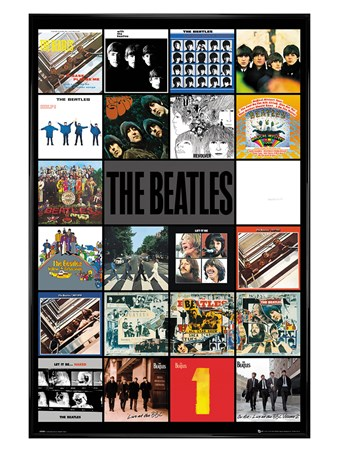 Gloss Black Framed Albums, The Beatles