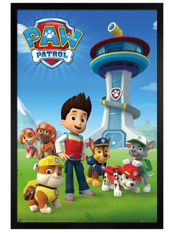 Black Wooden Framed One Terrific Team - Paw Patrol