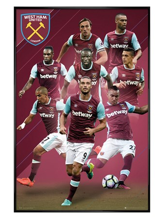 Gloss Black Framed 2016/17 Players - West Ham FC