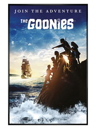 Framed Gloss Black Framed Join The Adventure - The Goonies