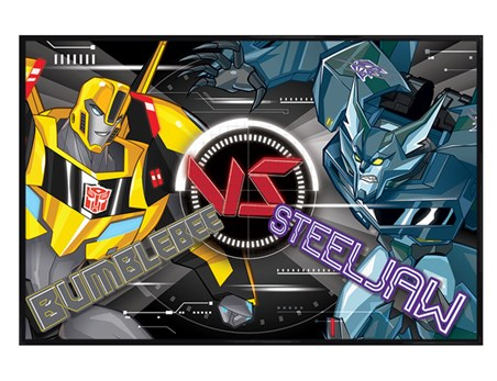 Gloss Black Framed BB Vs Steeljaw - Transformers Robots In Disguise