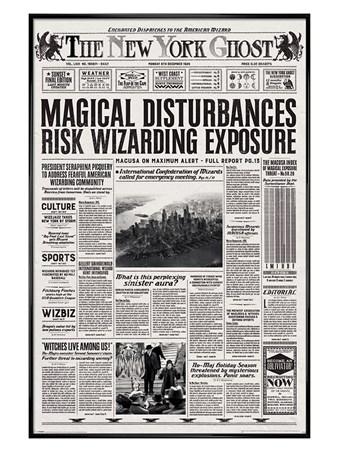 Framed Gloss Black Framed The New York Ghost - Fantastic Beasts