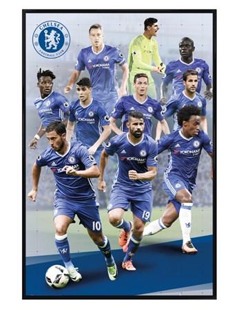 Gloss Black Framed Star Players 16/17 - Chelsea FC