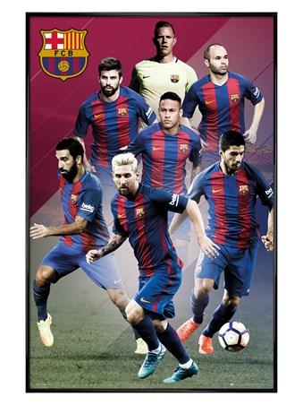 Gloss Black Framed Players 16/17 - Barcelona FC