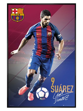 Gloss Black Framed Suarez 16/17 - Barcelona