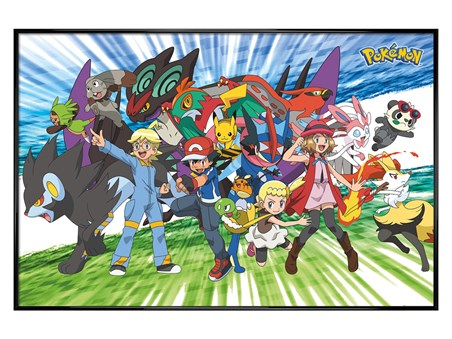 Gloss Black Framed Traveling Party - Pokemon