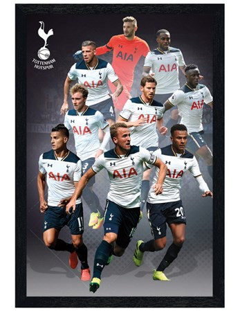 Black Wooden Framed Star Players 16/17 Hotspur - Tottenham FC
