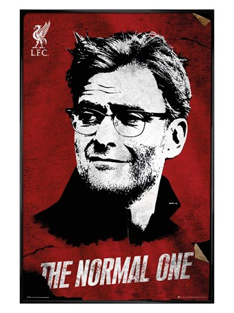 "Gloss Black Framed ""The Normal One"" Jürgen Klopp - Liverpool FC"