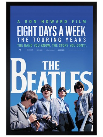 Black Wooden Framed Eight Days A week - The Beatles
