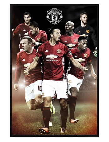 Gloss Black Framed 2016/2017 Players - Manchester United FC