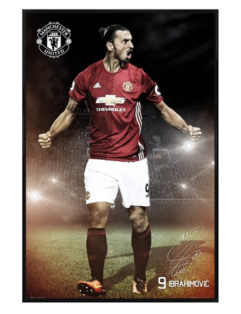 Gloss Black Framed  Ibrahimovic 16/17 - Manchester United