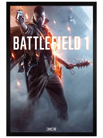 Black Wooden Framed Let The Adventure Begin - Battlefield 1