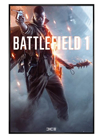 Gloss Black Framed Let The Adventure Begin - Battlefield 1