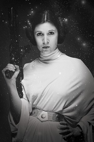 Monochrome Carrie Fisher - Princess Leia