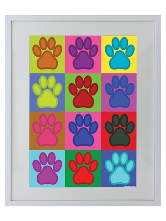 Colourful Canines - PopArt Paw Prints