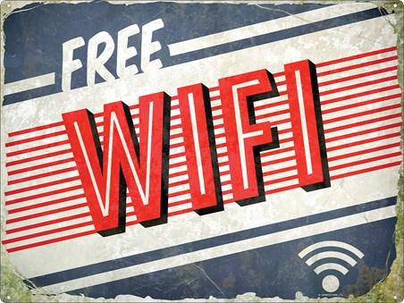 Framed Free WiFi - Retro