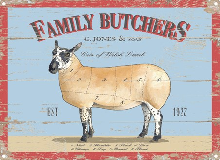 Framed G.Jones And Sons - Family Butchers